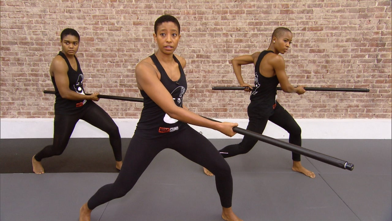 'The Black Panther's' Women of Wakanda Show Off Their Impressive Fight Moves | Inside Edition