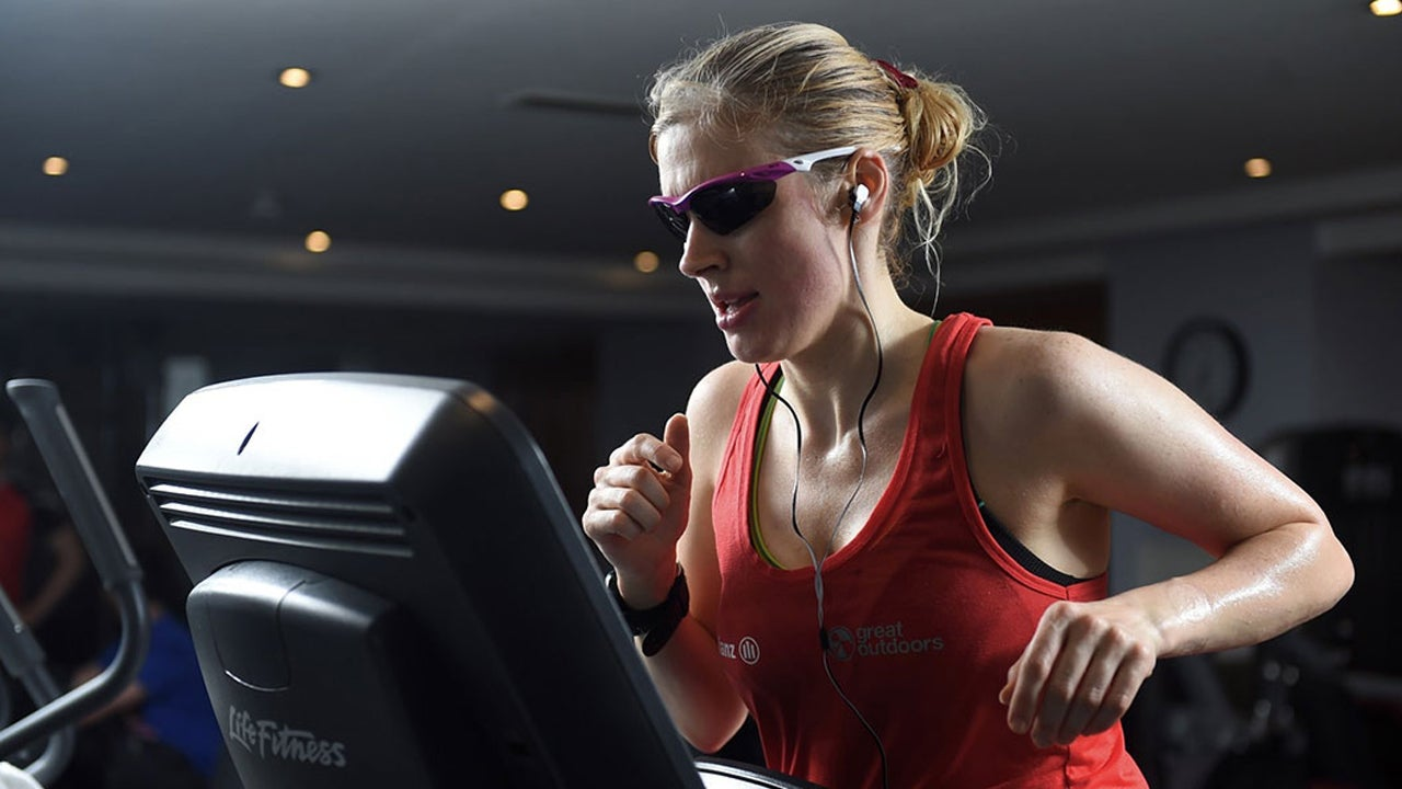 Blind Woman Runs On Treadmill For 12 Hours To Break Record