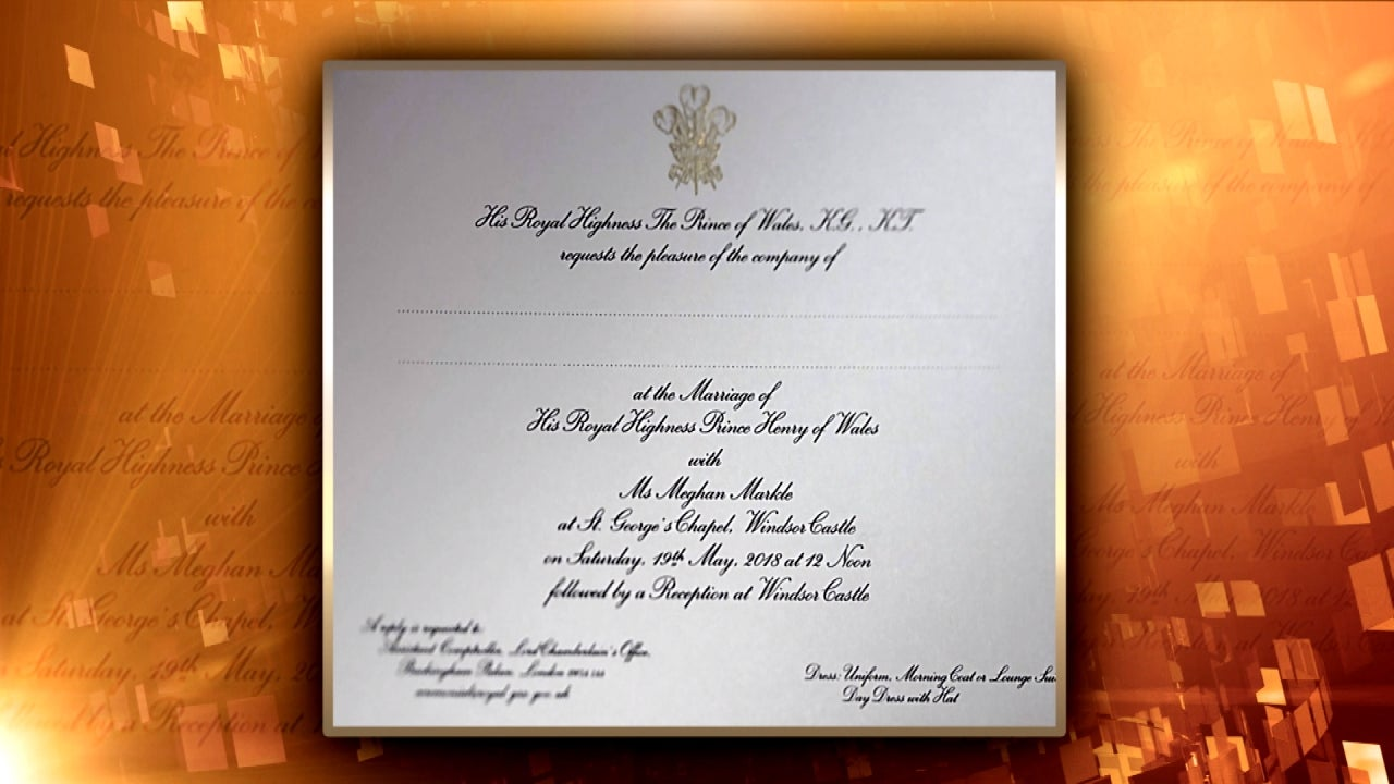First Look at Meghan Markle and Prince Harry\'s Wedding Invitation ...