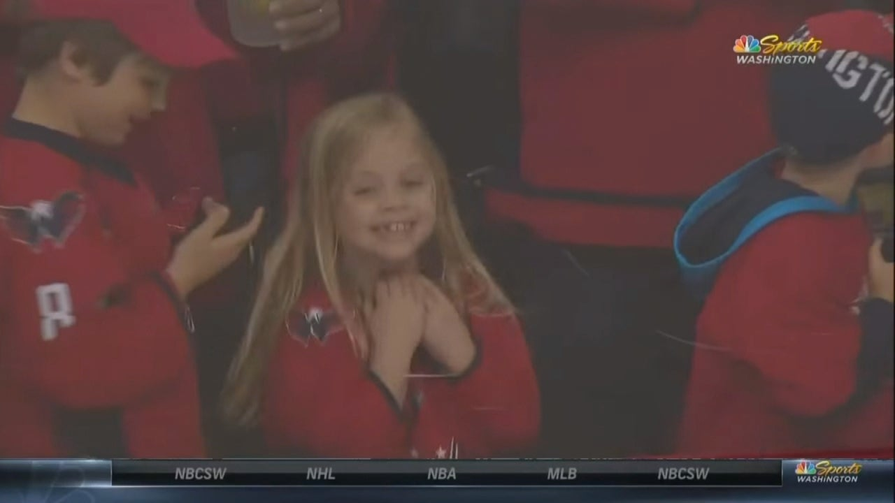 Hockey Player Tries 3 Times to Give Fan a Puck