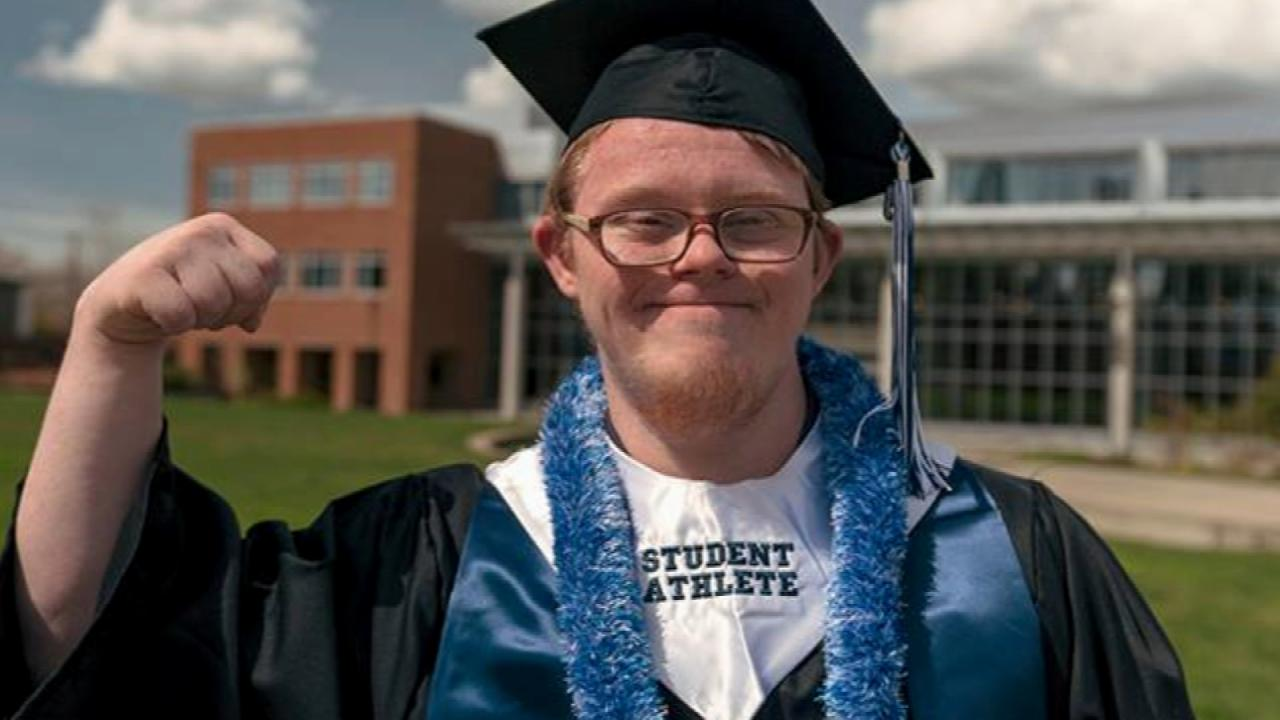 student with down syndrome makes history as he graduates from college