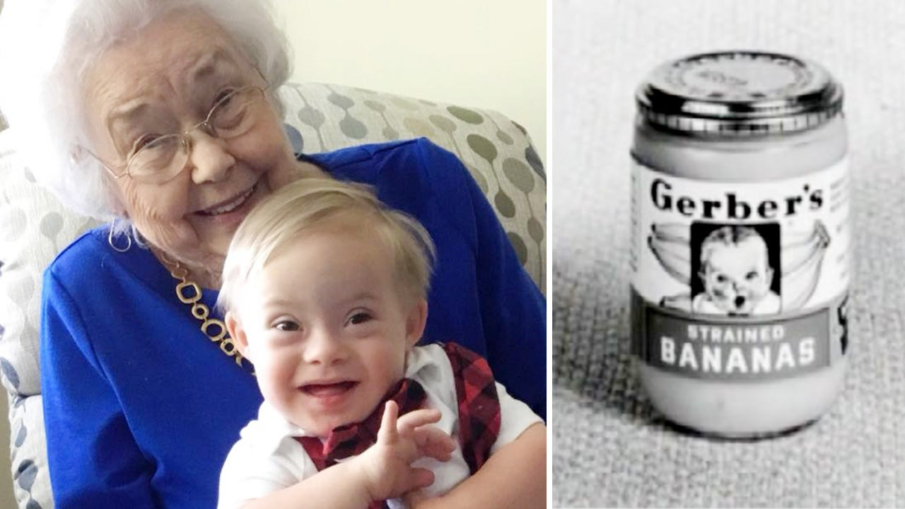Original Gerber Baby 91 Meets Newest One Who Has Down