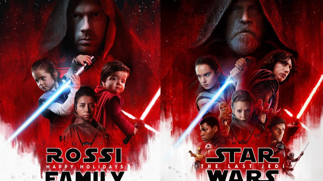 Family Recreates \'Star Wars\' Movie Poster for Epic Christmas Card ...