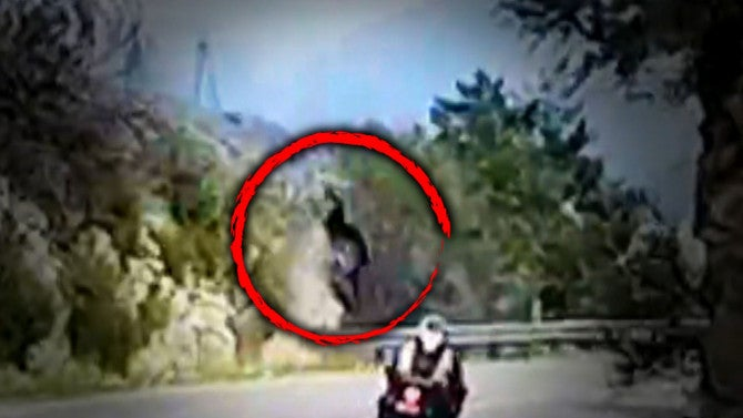 See This Terrifying Video That Shows A Motorcyclist