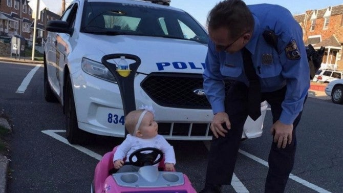 Cats Driving Cars And Getting Pulled Over : Month old girl gets pulled over by police while driving