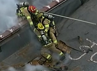 Firefighters Narrowly Escape Roof Collapse Inside Edition