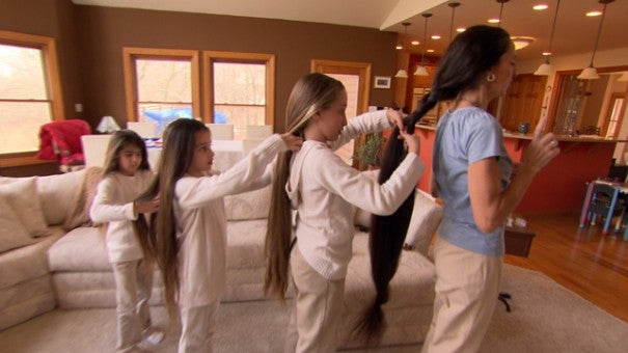 Family Shows Off Mega Long Hair Inside Edition