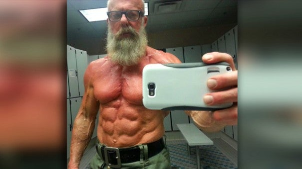 Photo Of 60 Year Old Muscle Man Goes Viral Inside Edition