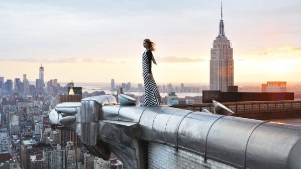 Woman Climbs Chrysler Building For Dramatic Photo Inside