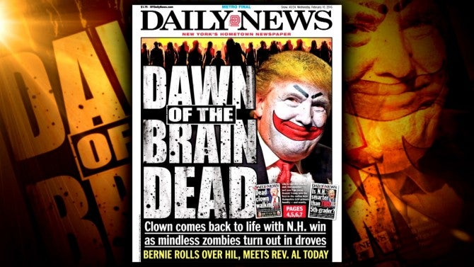 New York Daily News Front Page Cover