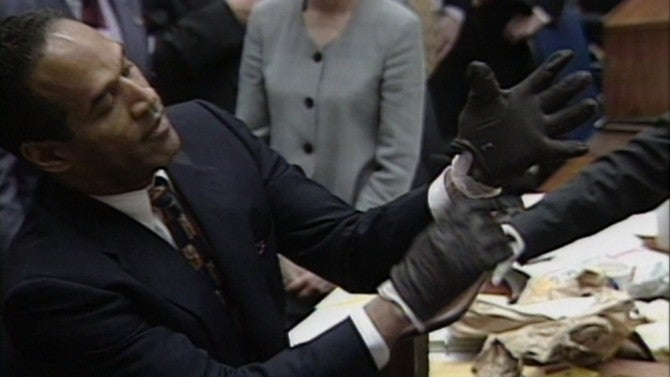 Oj Simpson Wearing Gloves From the Gloves to the...