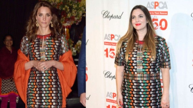 Kate Middleton and Drew Barrymore Step Out in Same Dress ...