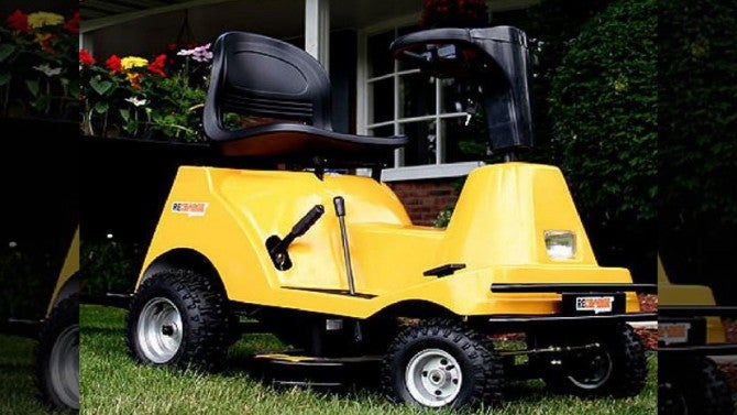 Couple arrested for riding naked on stolen lawn mower