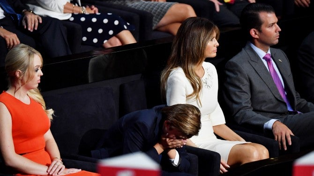 Bored, 10-Year-Old Through Way Trump Barron? Yawns  His Dad