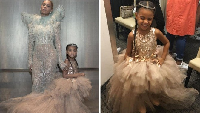 4 Year Old Blue Ivy Wears 11 000 Dress On Vmas Red Carpet