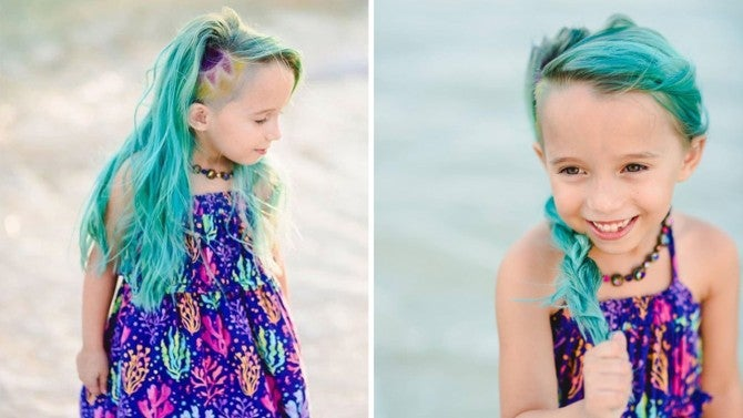 Mom Defends Dyeing 6 Year Old Daughter S Hair Blue Purple