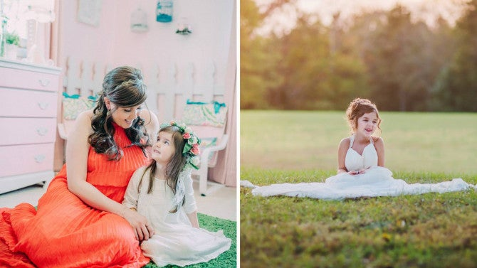 ffd05d3a731 4-Year-Old Girl Wears Her Late Mom s Wedding Dress For Photo Shoot a Year  After She Died