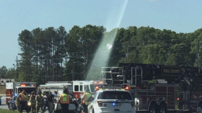 Car Accident In Ga With Light To Heavon