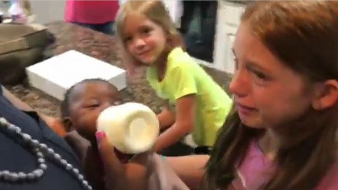 Parents Capture Moment They Surprise Daughters With Their