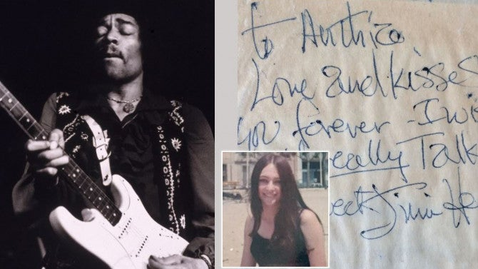 Woman Auctioning Off Note From Jimi Hendrix She Received