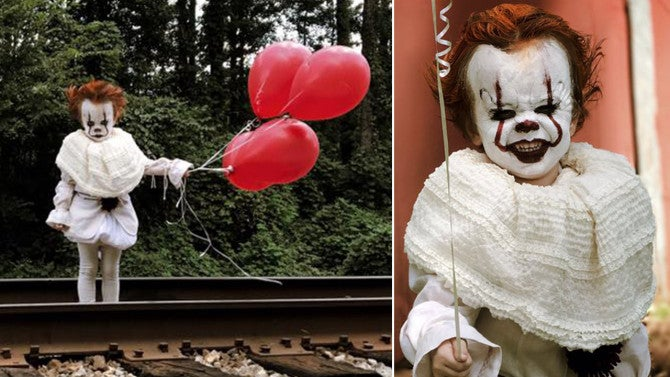 3 Year Old Poses As Pennywise The Clown From Stephen King