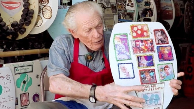 96 Year Old Man Has Spent 70 Years Making Artwork On