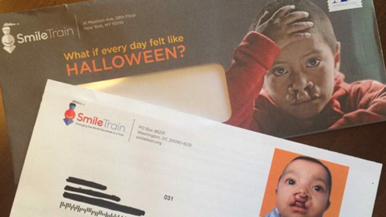 """A mailer sent by SmileTrain earlier this month reads: """"What if every day felt like Halloween?"""""""