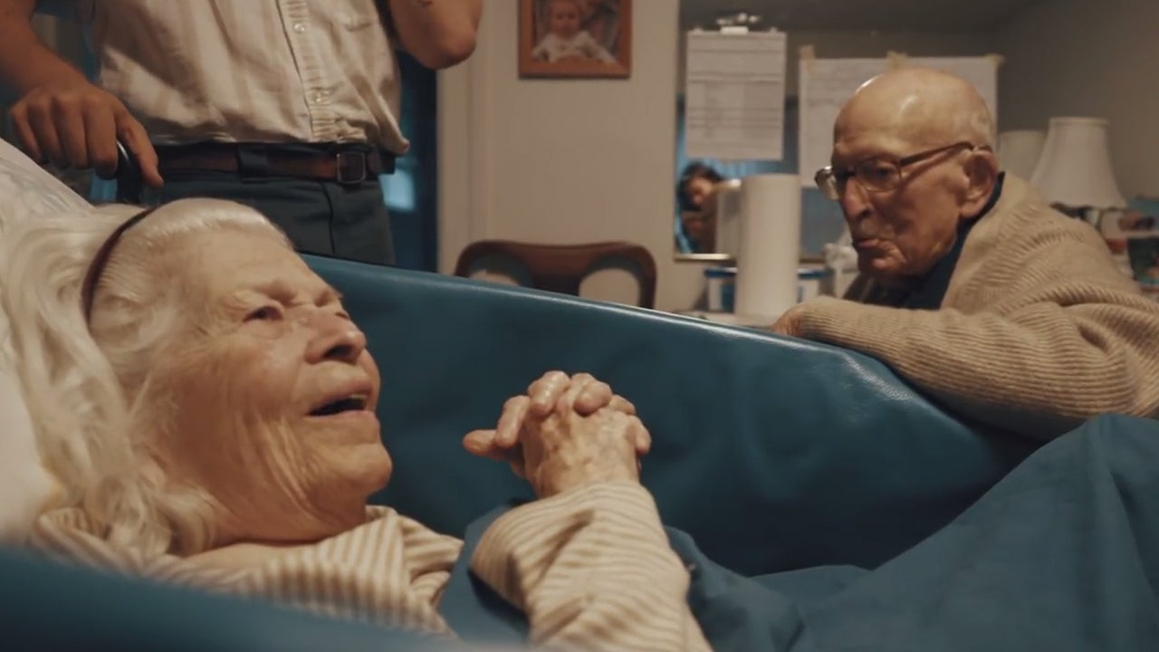 Centenarian Couple Shares Tender Moment During 80th