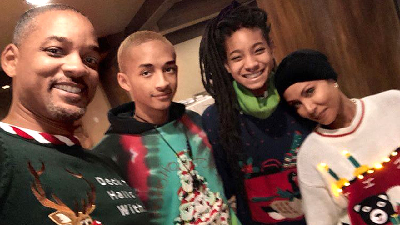 Will Smith Christmas Sweater.Will Smith And His Family Celebrate Christmas With A Sleigh