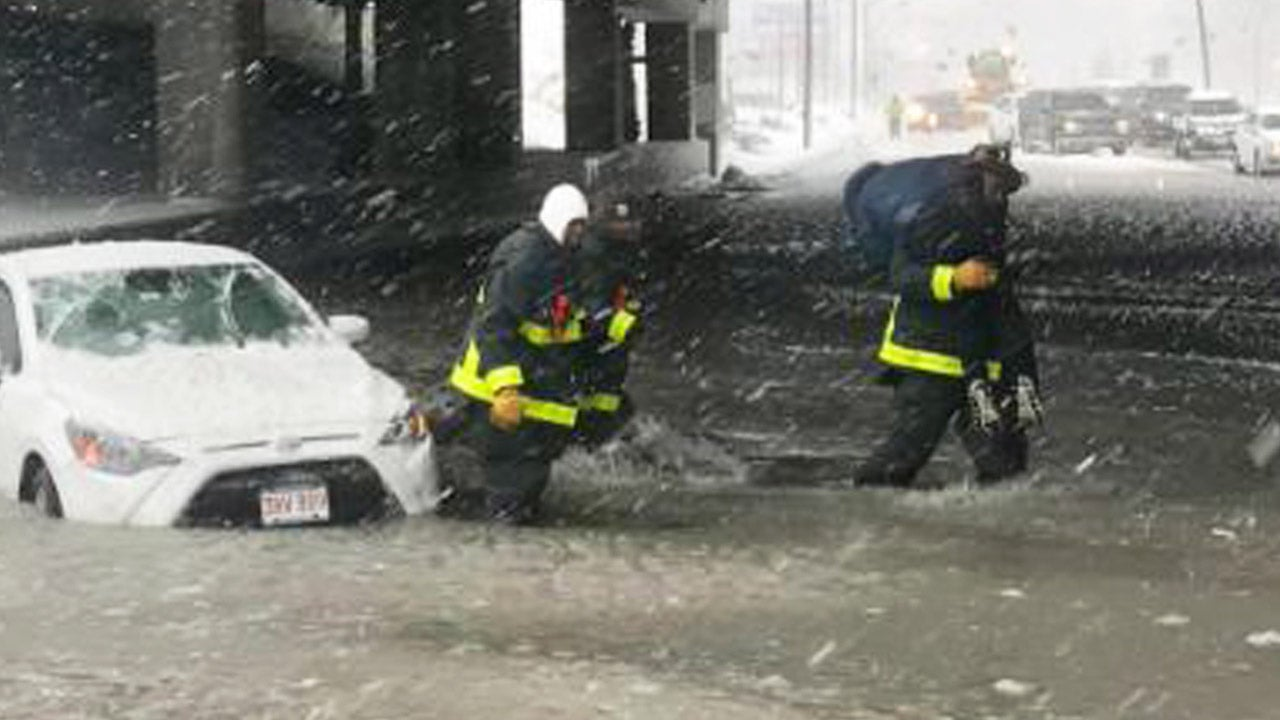 Used Cars Boston >> Boats Rescue Stranded Office Workers and Residents as 'Bomb Cyclone' Slams Boston with Record ...