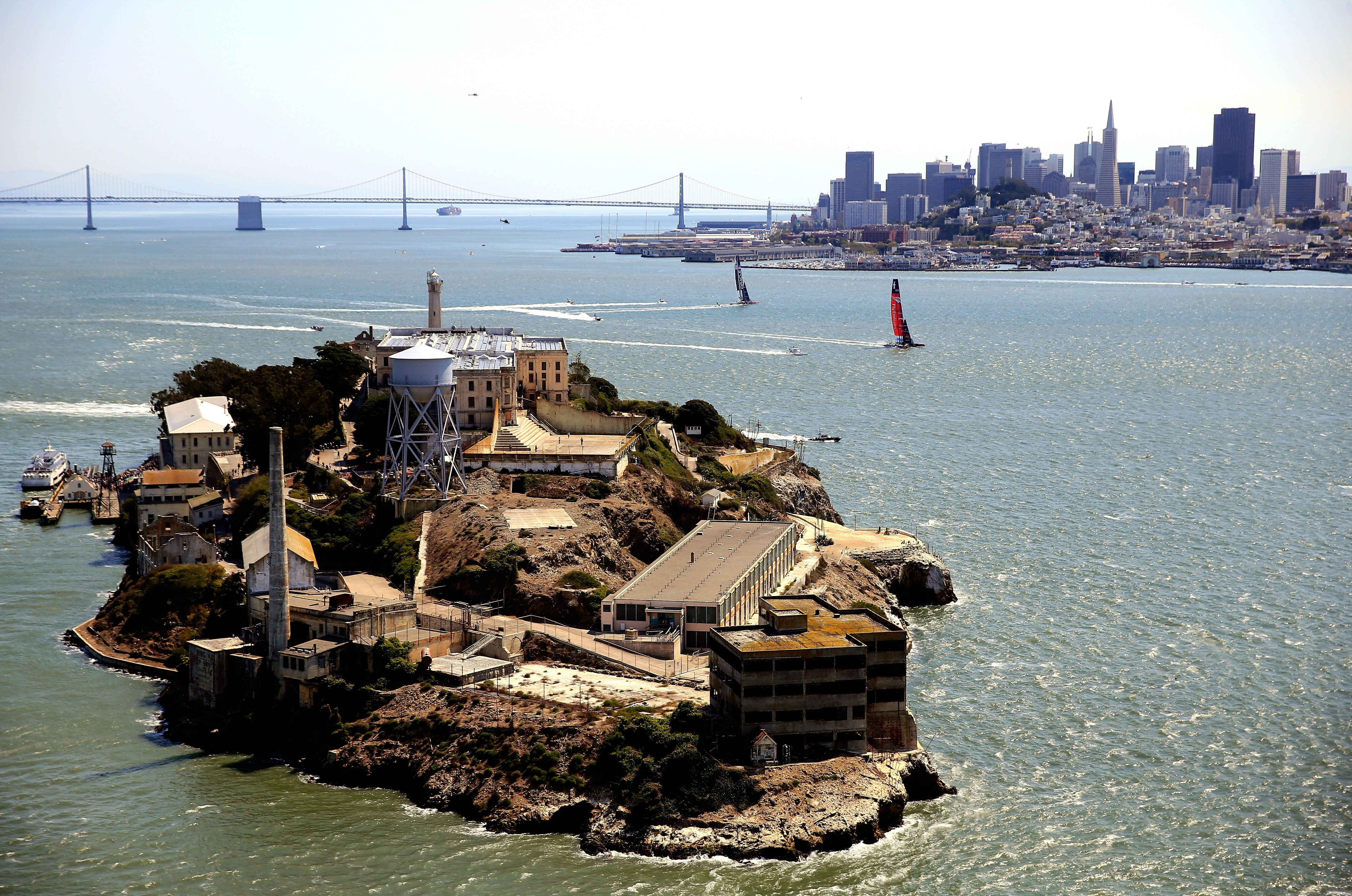 Alcatraz Island housed a federal penitentiary from 1934 to 1963.