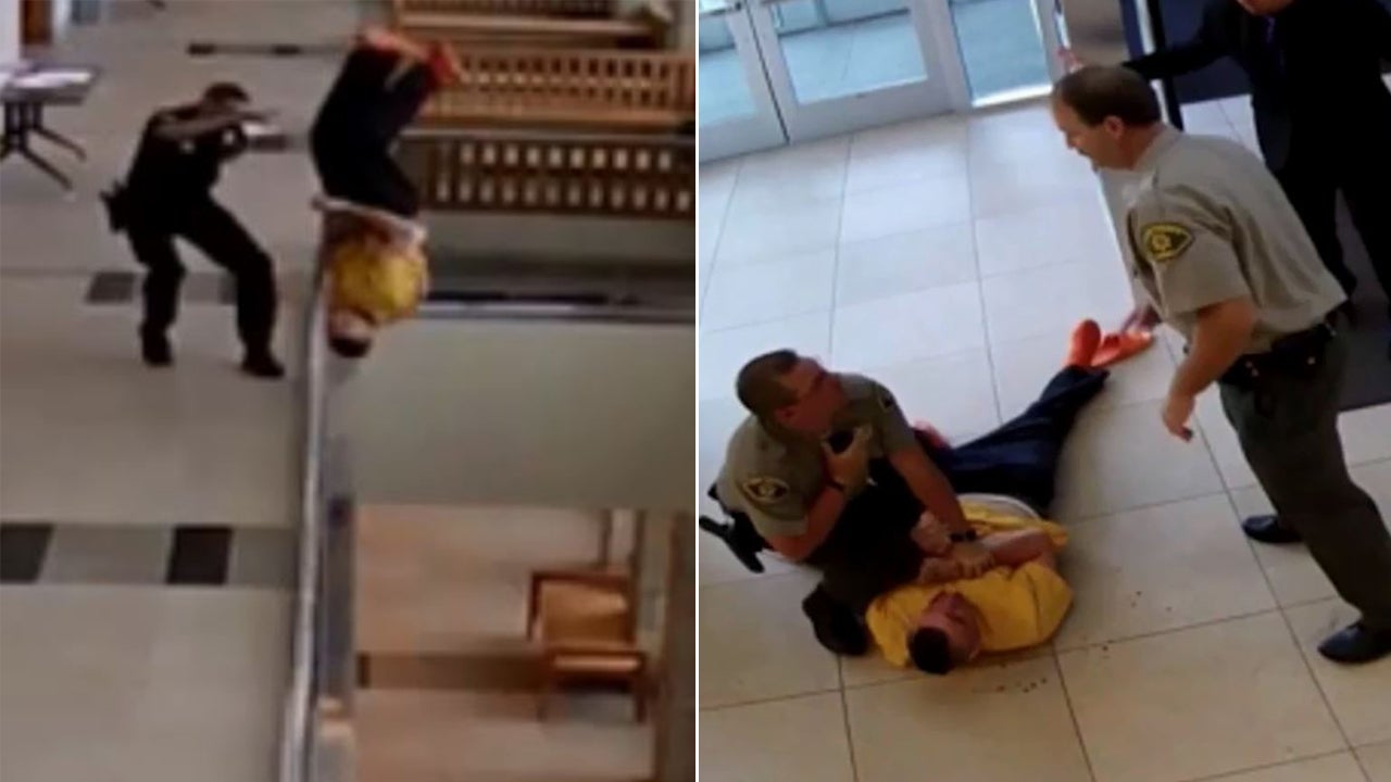 Handcuffed man takes nosedive off balcony while fleeing court handcuffed man takes nosedive off balcony while fleeing court inside edition fandeluxe Gallery