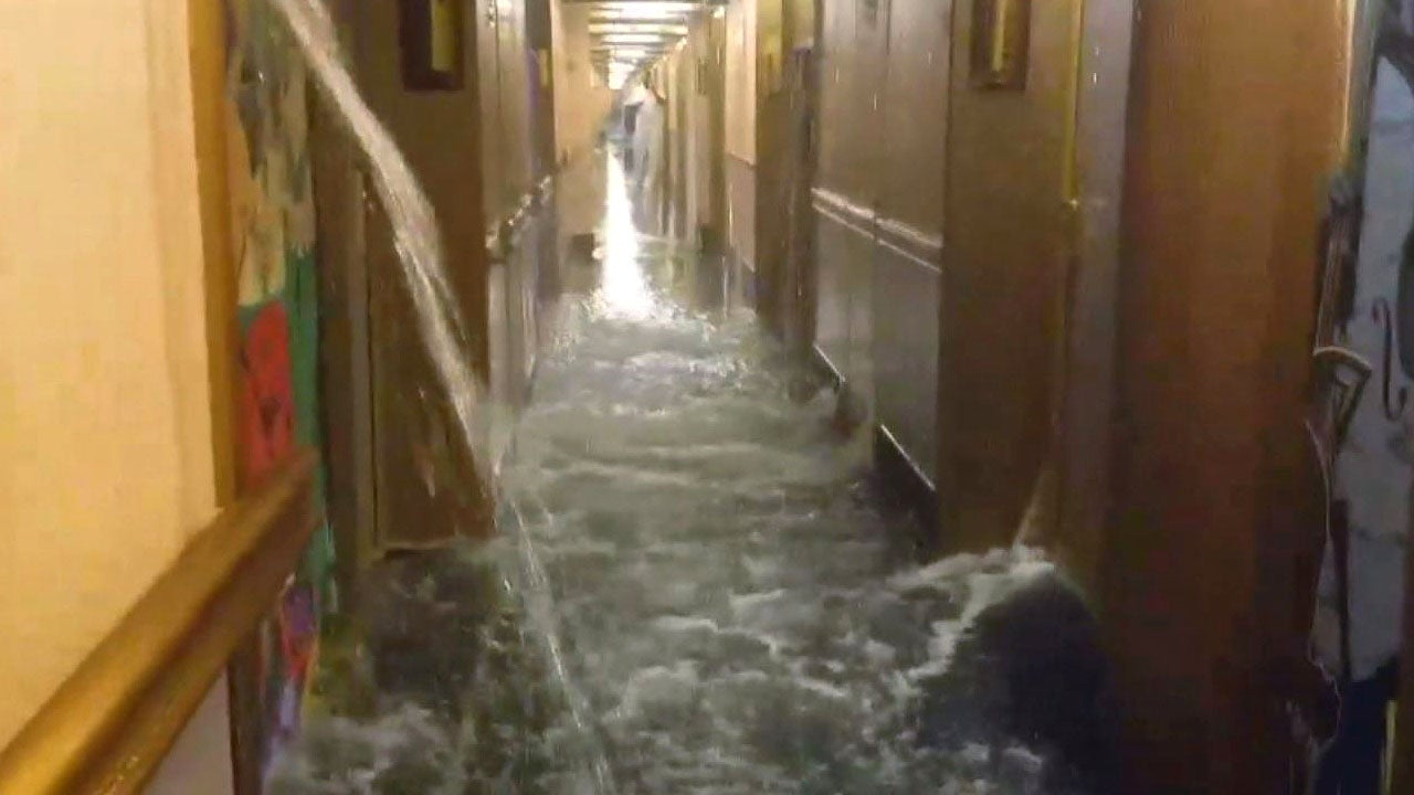 Burst Pipe Floods Carnival Cruise Ship In A Scene Right