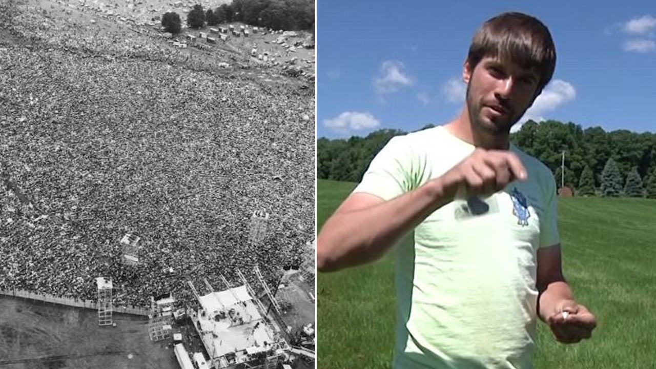 The site of 1969's legendary Woodstock concert is now an archaeologic dig.
