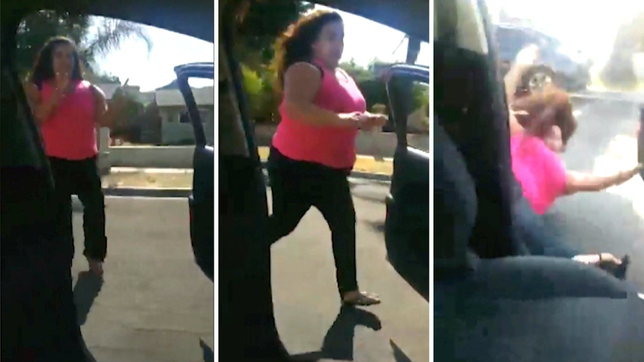 woman falls out of moving car while doing la chona challenge