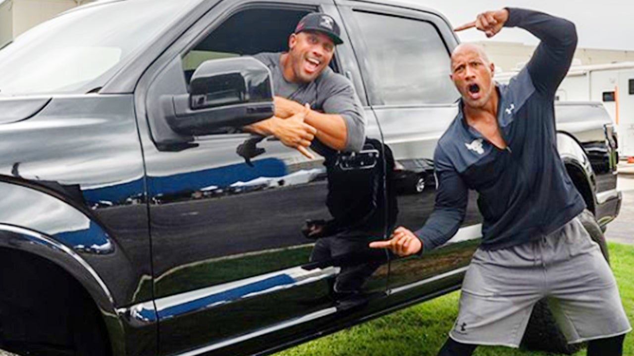 Dwayne 'The Rock' Johnson Surprises Long-Time Stunt Double With Truck   Inside Edition
