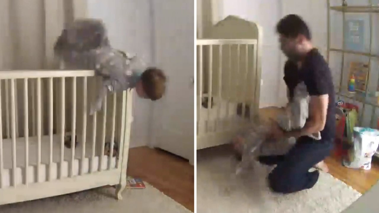 Dad Acts Fast To Catch 2 Year Old Who Fell Out Of Crib Inside Edition