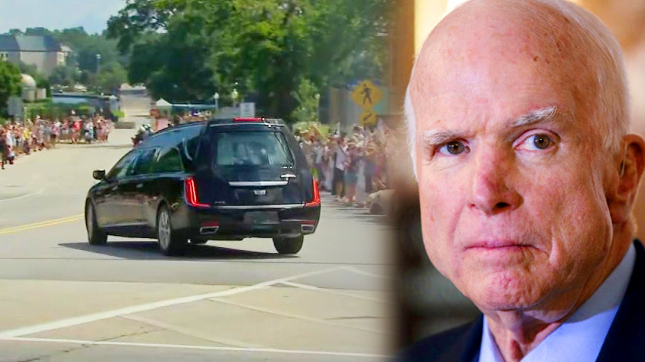 Mourners Line the Streets as John McCain is Taken to His Final Resting Place