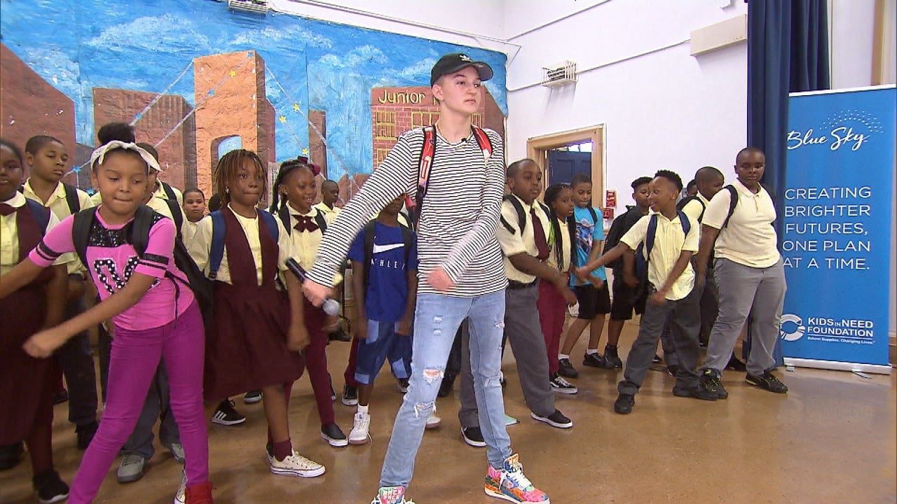 Backpack Kid Surprises New York Elementary Students With