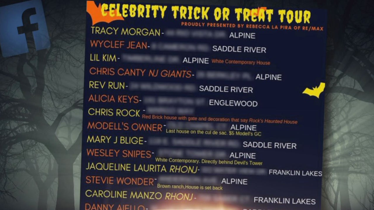 Celebrity Trick Or Treating List Has Kids Descending On