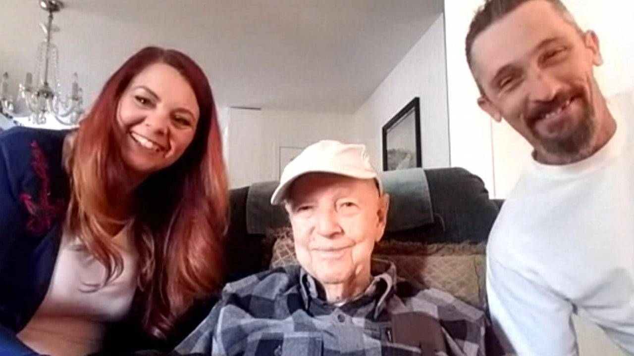 "A California couple ""adopted"" a 93-year-old veteran after massive wildfire."