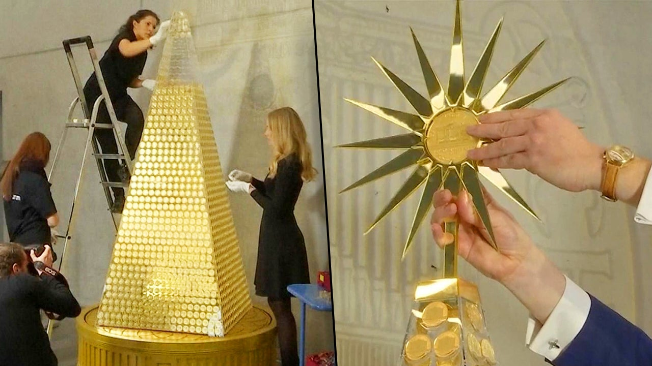 Europe's Most Expensive Christmas Tree Is Made Of Gold And
