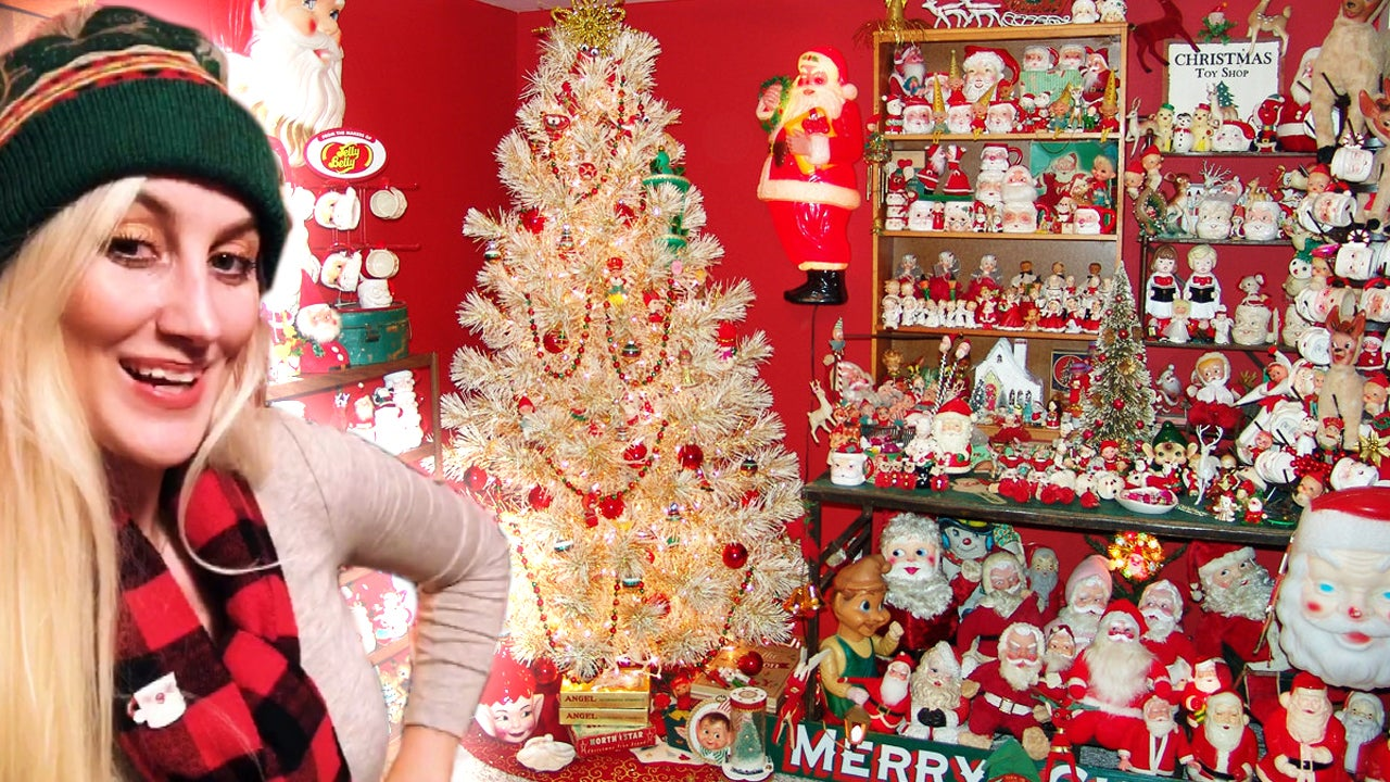 Christmas-Obsessed Woman Keeps Up Decorations All Year Round