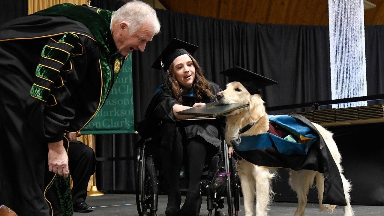 Griffin the Service Dog Graduates From Clarkson University ...