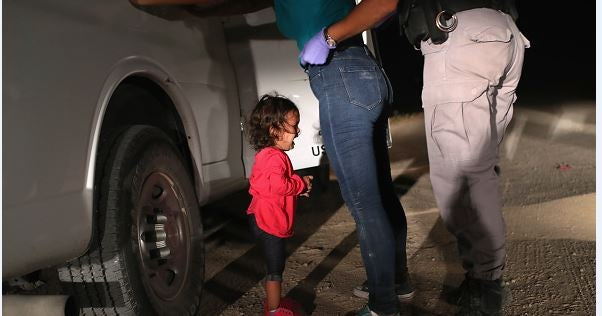 This photo came to symbolize the anguish of children separated from their parents at the border.