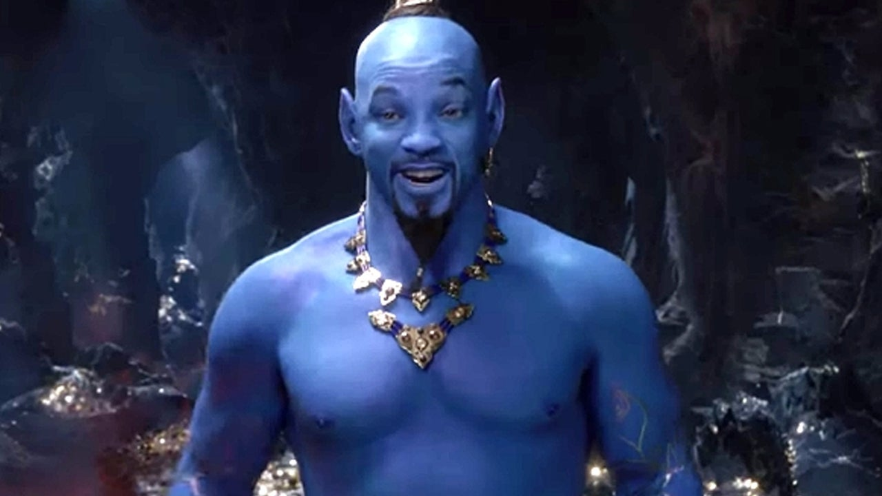 'Aladdin' Trailer Shows First Glimpse of Will Smith's Blue Genie and Fans Aren't Pleased 'Aladdin' Trailer Shows First Glimpse of Will Smith's Blue Genie and Fans Aren't Pleased