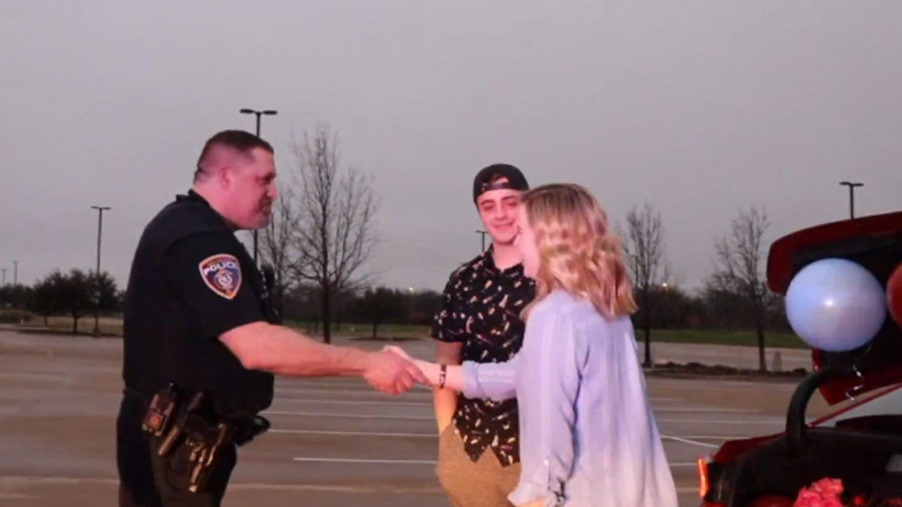 472760376b9ca Texas Cop Pulls Over Teen to Help With His Elaborate Promposal   Inside  Edition