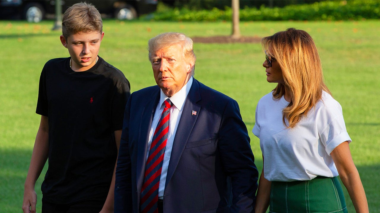 13-Year-Old Barron Trump Is Now Taller Than Mom and Dad
