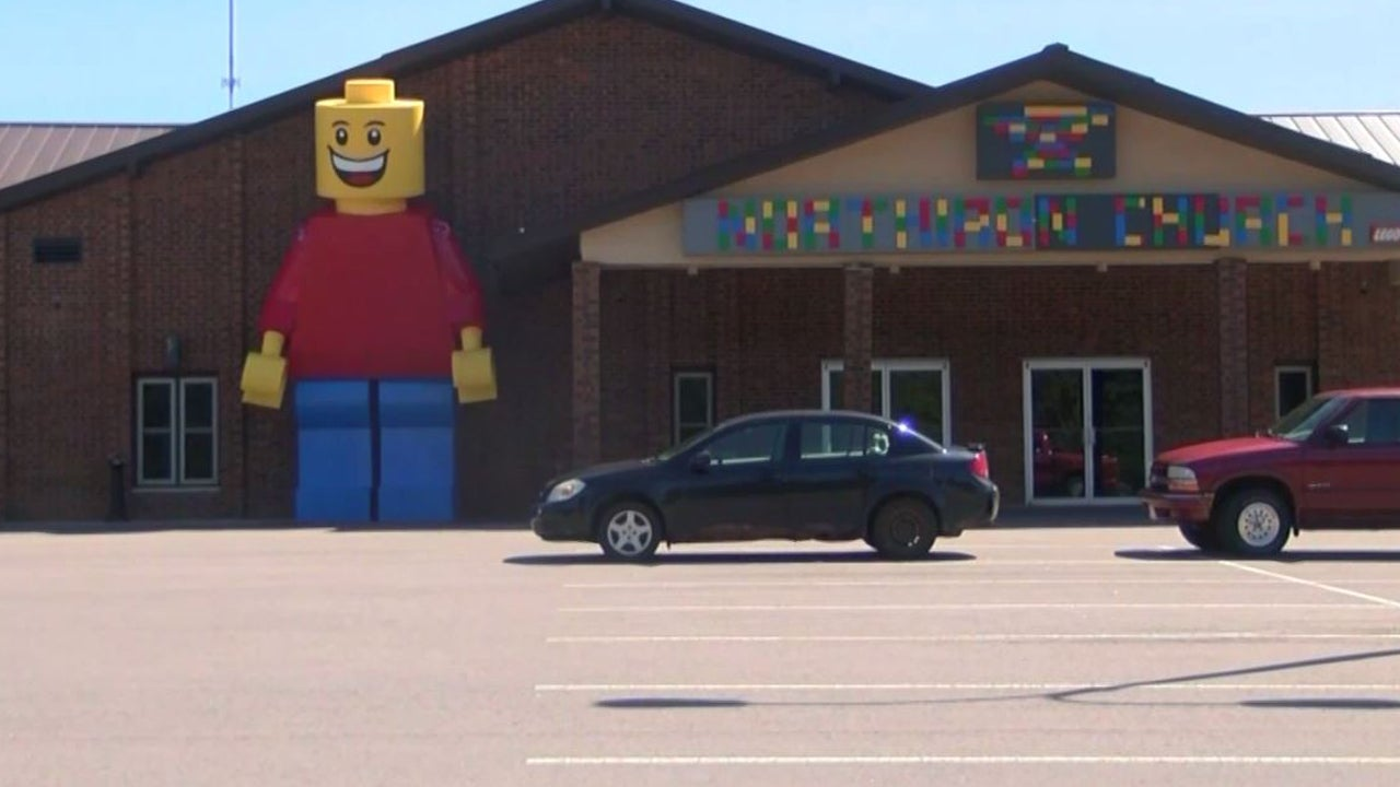 Everything Is Awesome: Church Uses Massive Lego Man to Advertise Movie Series