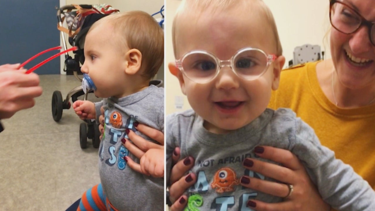 Baby Beams at Dad After Undergoing Cataract Surgery